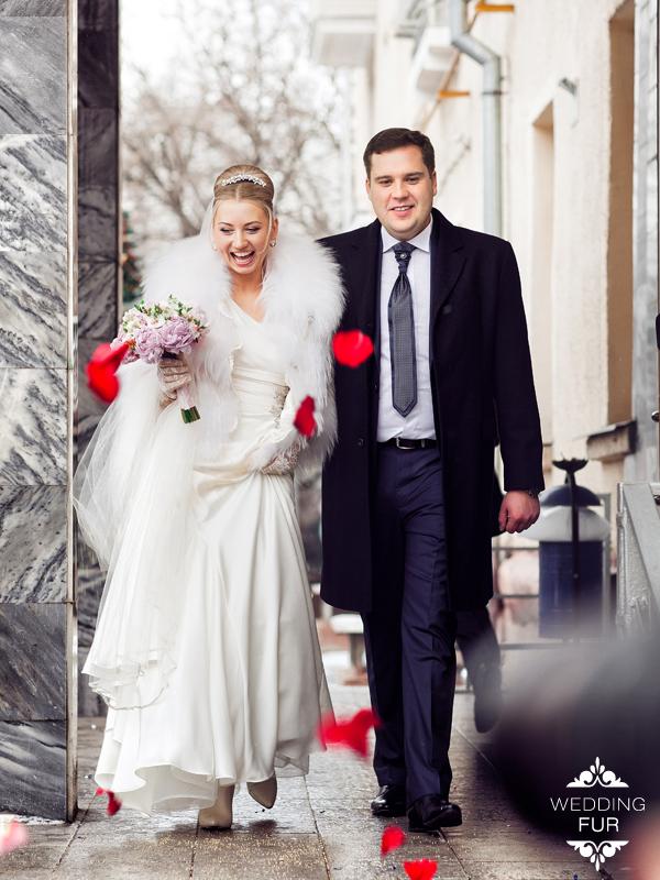 Свадебная шубка напрокат