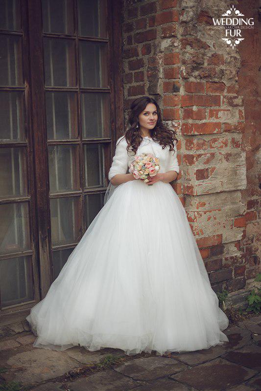 Норковая шубка для невесты напрокат