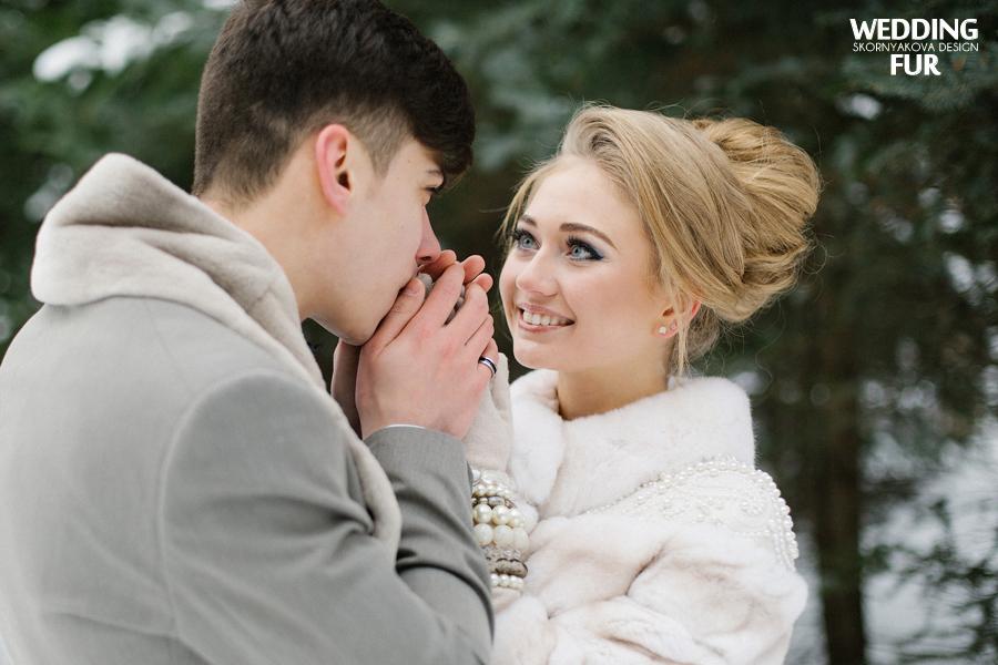 Меховые свадебные шубки напрокат для невест