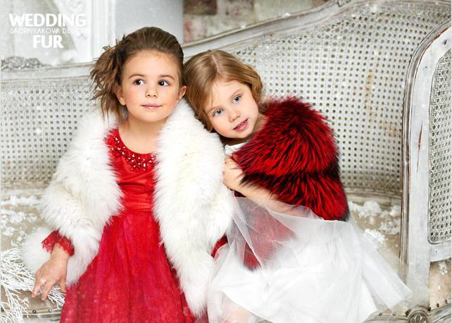 Купить меховую накидку для девочки