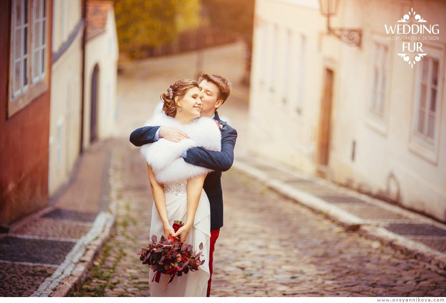Свадебная фотосъемка в Праге свадебная накидка для невесты