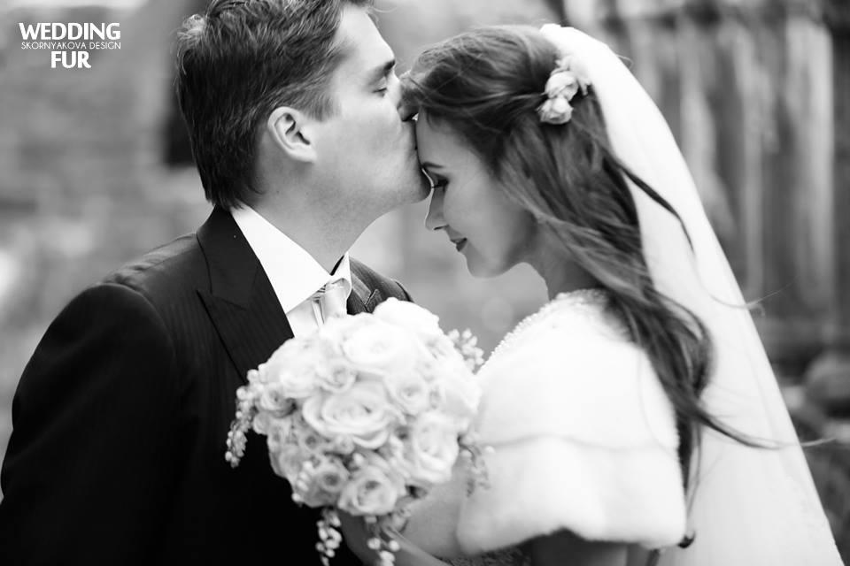 Меховые накидки для свадьбы из норки