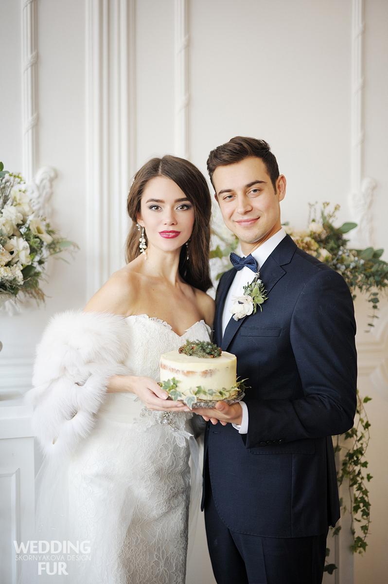 Свадебные меховые накидки для невест