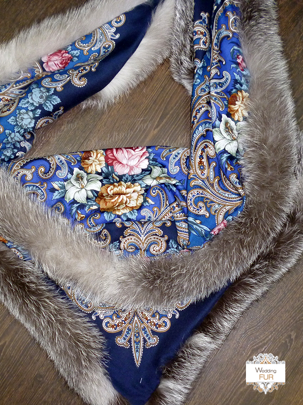 Павлопосадский платок мех