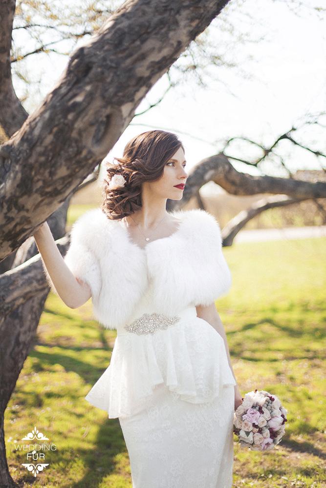 Купить меховую накидку свадебную для невесты на свадебное платье