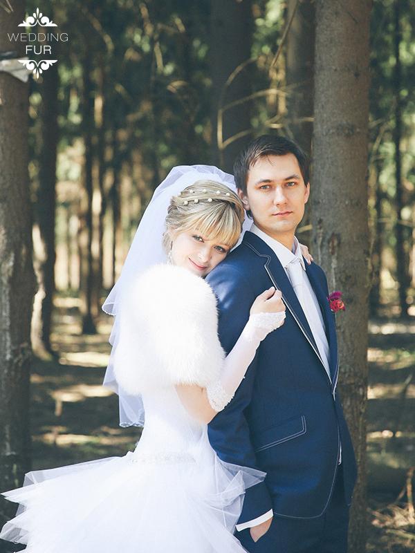 Свадебные летние накидки из меха напрокат