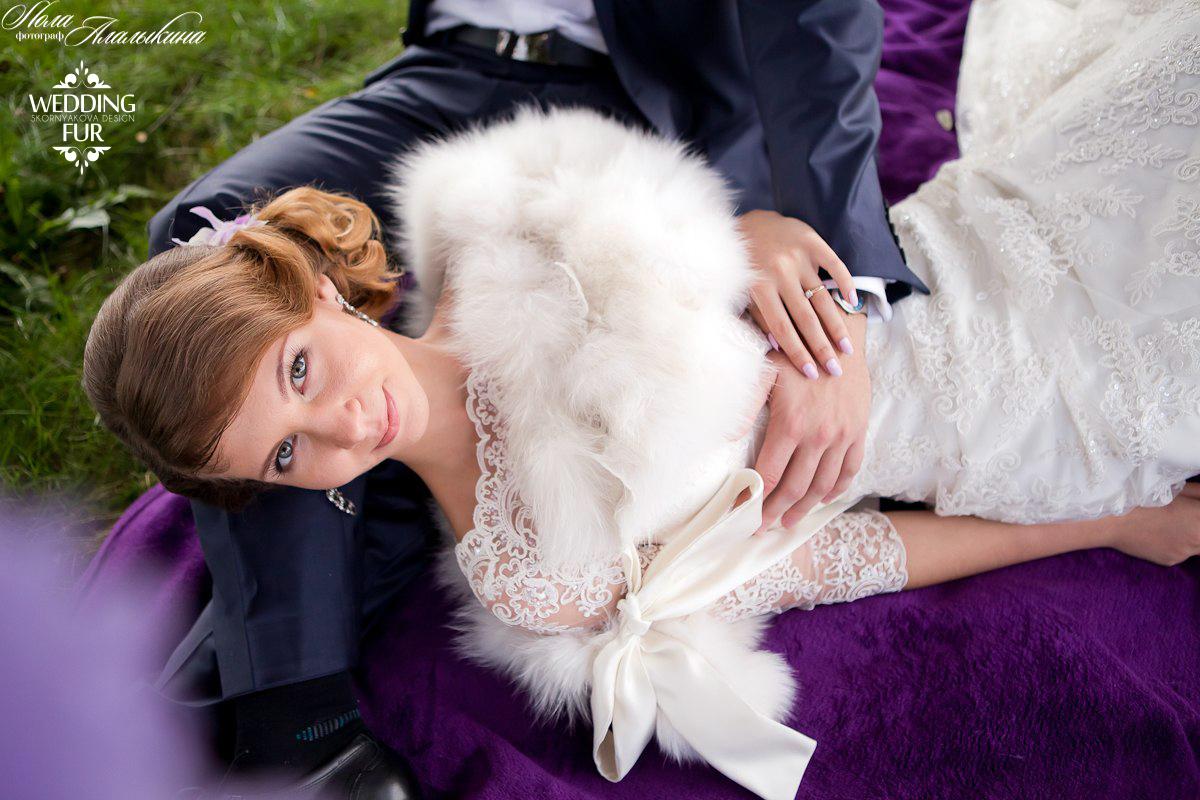 Купить меховую накидку для невесты