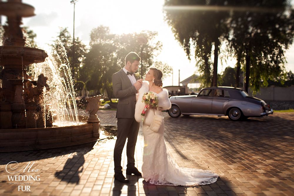 Свадебные накидки и палантины из натурального меха