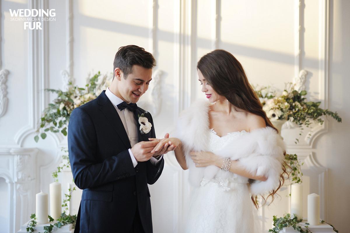 Российский меховой дизайнер Скорнякова Ольга придумала накидку для невесты