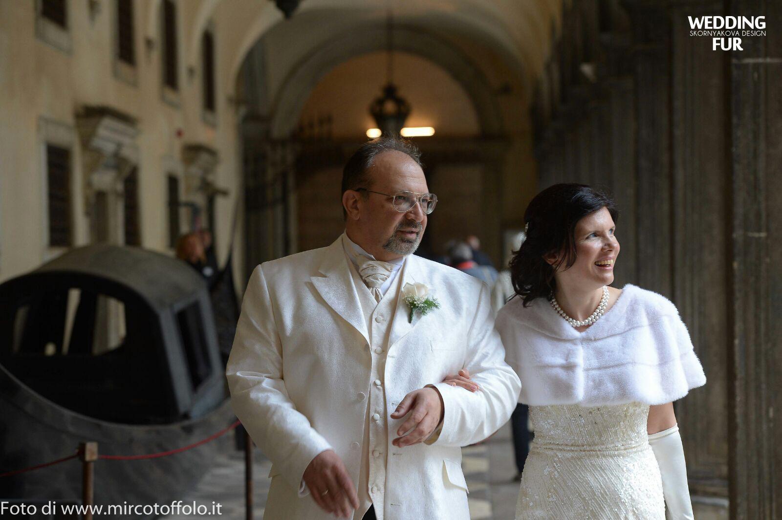 Накидка на свадьбу из натурального меха