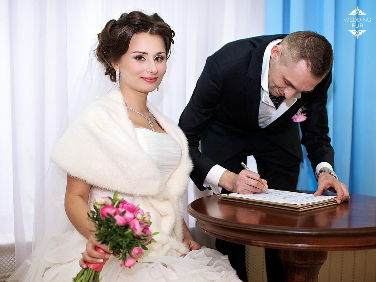Норковая накидка напрокат для свадьбы Москва