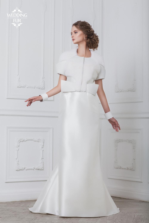 Необычные свадебные платья шубки купить