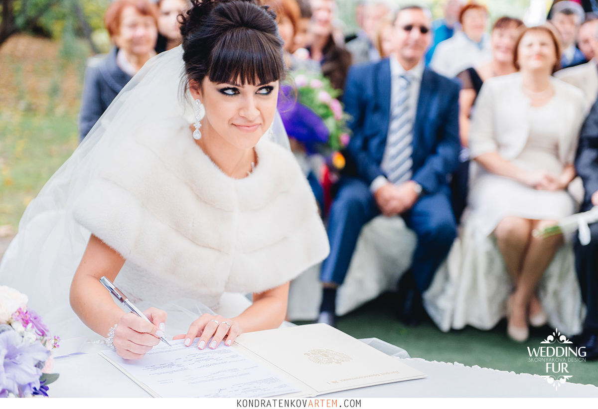 Свадебная накидка из норки