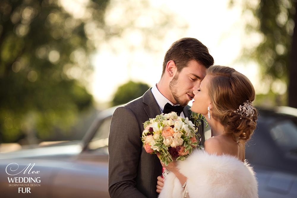 Свадьба свадебный меховой палантин напрокат