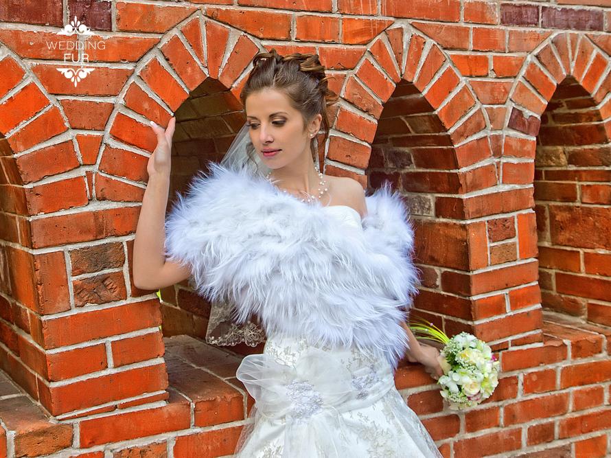 Норка накидка для свадьбы напрокат меховая