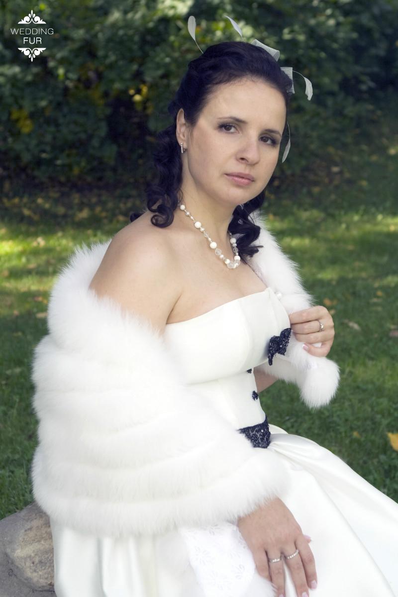 Горжетка прокат на свадьбу платье Wedding fur Москва