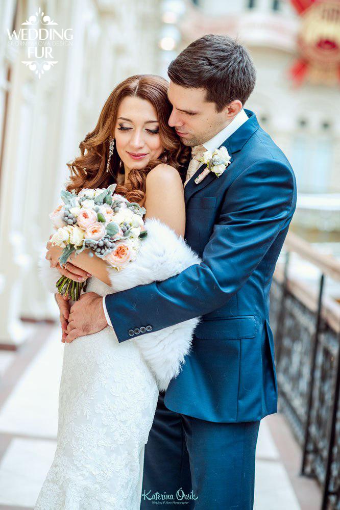 Шубки и накидки для невесты купить