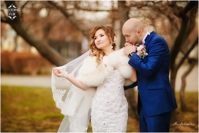Меховые свадебные накидки напрокат