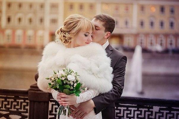 Меховая накидка для невесты