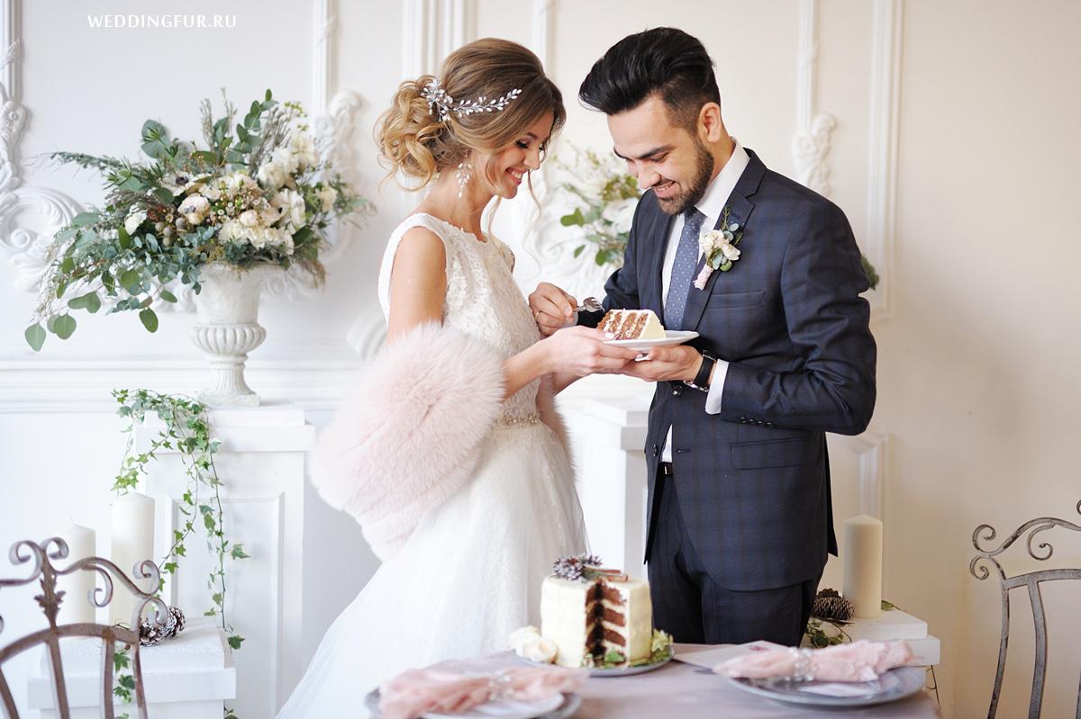 Купить меховой палантин на вечернее свадебное платье