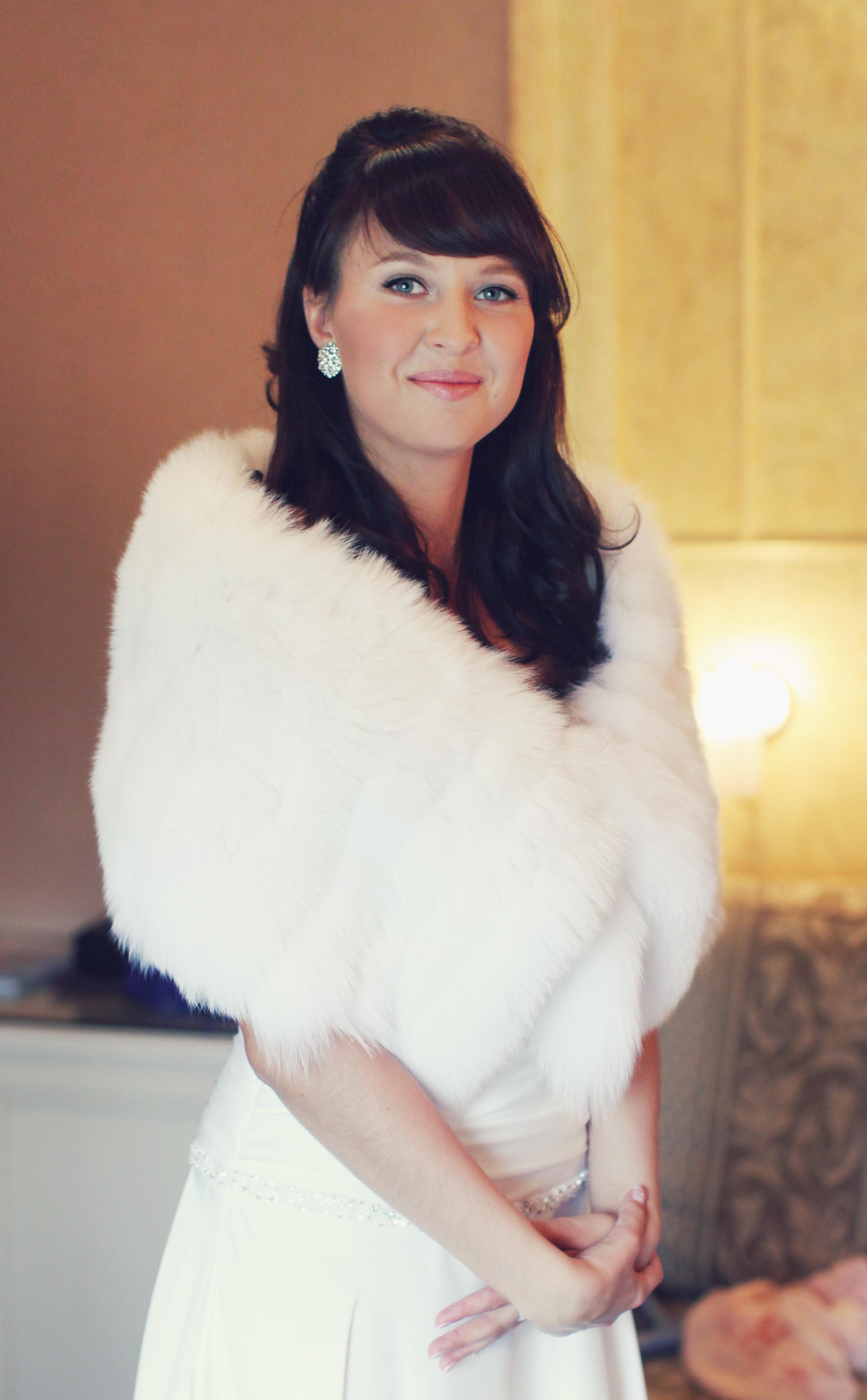 Норковые накидки шубки горжетки пелерины прокат купить Москва Wedding Fur