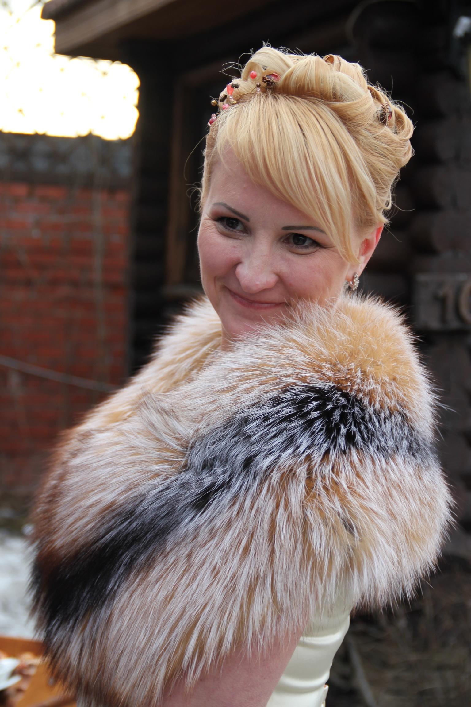 Горжетка из лисы купить Москва Wedding fur