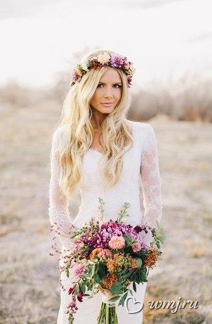 Свадебный образ невеста в стиле бохо шик