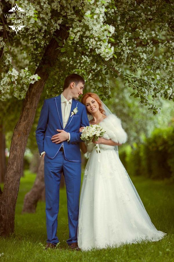 Летние свадебные накидки купить из меха