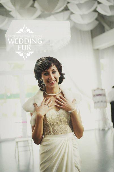 Свадебная накидка из норки купить