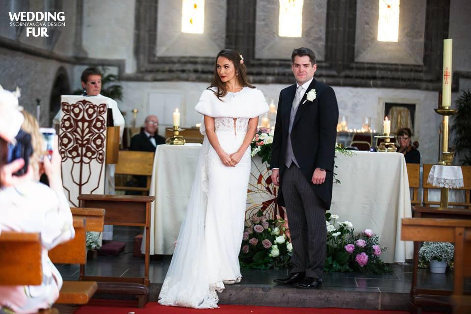 Дизайнерские накидки для свадьбы из норки