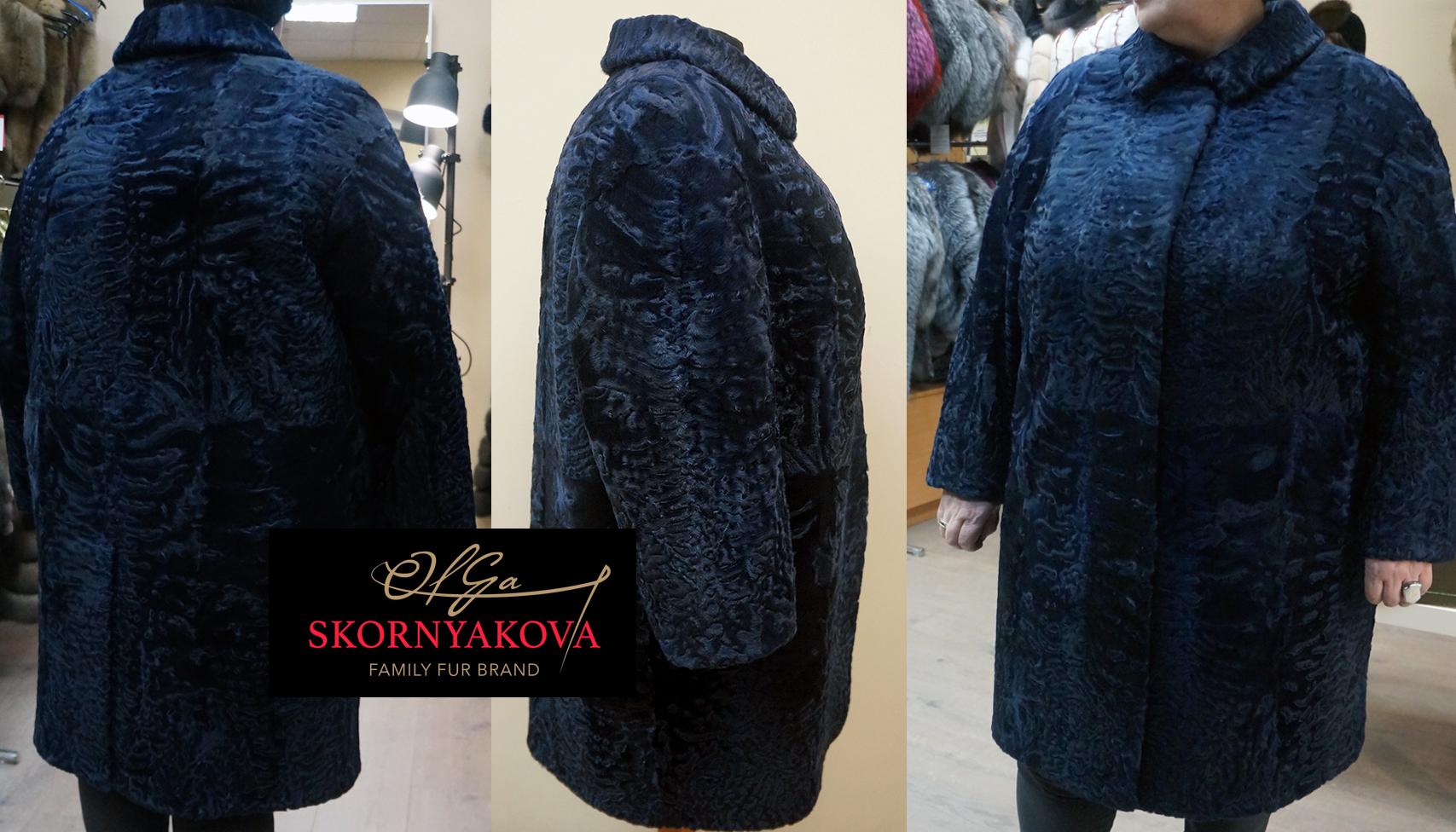 Пошив пальто изкаракульчи большого размера